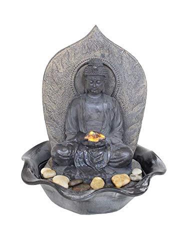 Kiom Zimmerbrunnen, Dekobrunnen, warmweiße LED, antikfinish, FoBuddha, 10465