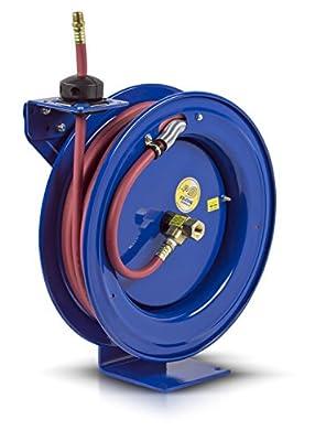 "EZ-Coil Performance Safety Hose Reel, 300 psi, Hose Included, 1/4"" Hose ID, 25' Length"