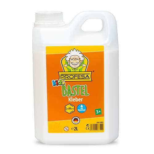 PROFESA - Kinder Bastelkleber für Slime - weiß, flüssig, 2 Liter
