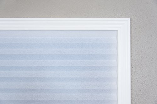 "Original Light Filtering Pleated Fabric Shade White, 36"" x 72"""