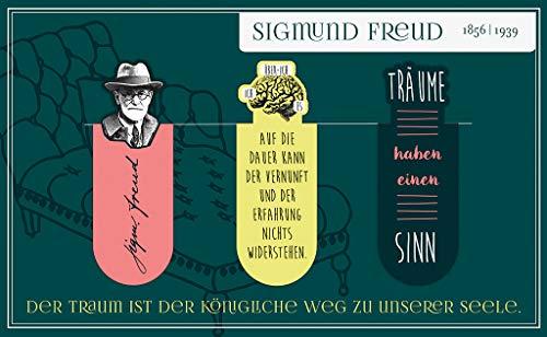moses. Magnetlesezeichen Sigmund Freud libri_x | 3er Set magnetisches Lesezeichen | Charmant Illustriert