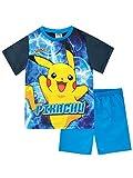 Pokèmon Pijamas de Manga Corta para niños Pikachu Azul 7-8 Años
