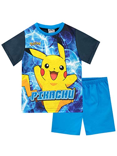 Pokemon Jungen Pikachu Schlafanzug Blau 116