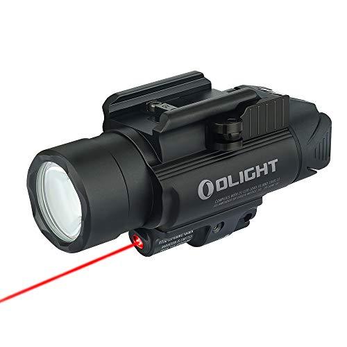 OLIGHT(オーライト) Baldr RL ウェポンライト 1120ルーメン フラッシュライト タクティカルライト 懐中電灯 レッドレーザー付き サバゲー 自衛 5年保証 CR123A電池*2 黒