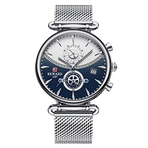 JCCOZ-URG Relojes Deportivos de Primera Marca para Hombres Reloj de Pulsera de Hombre de Acero Inoxidable de Lujo Azul de Lujo de Lujo Reloj de Reloj de Reloj de Reloj de Reloj URG