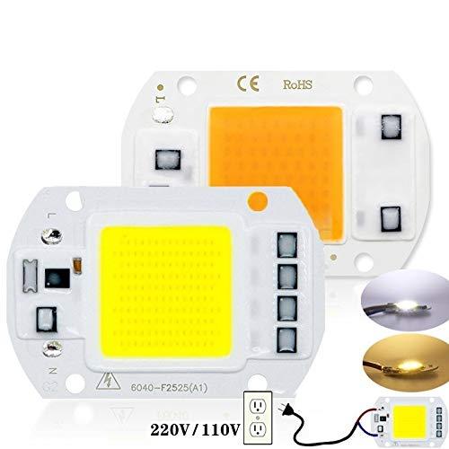 HHF LED Bulbs Lamps, Llevado proyector del Bulbo COB Chip de diodo 110V AC 220V 10W 20W 30W 50W No Necesita Conductor viruta Rectangular for el proyector llevó el Reflector de la lámpara Lampada