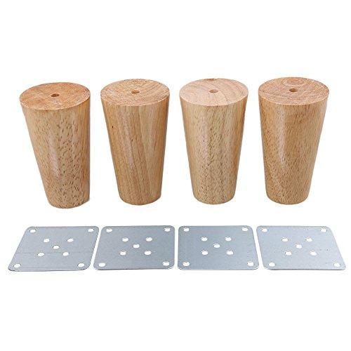 BQLZR - Patas de madera cónicas para muebles (4 unidades), M4170724034