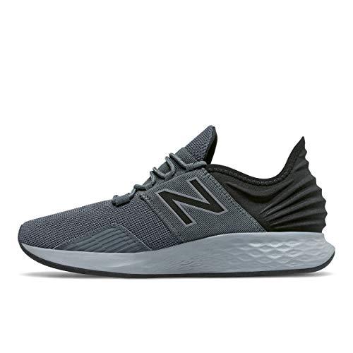 New Balance Men's Fresh Foam Roav V1 Sneaker, Lead/Black, 15 W US