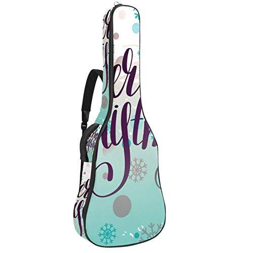 Gitarrentasche für Akustikgitarre, 104 cm, hochwertig, doppelt verstellbar, mit Handschrift