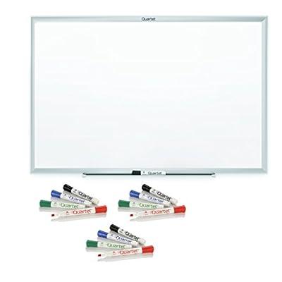 Quartet Standard Melamine Dry-Erase Boards, 4 x 3 Feet, Aluminum Finish Frame (S534)