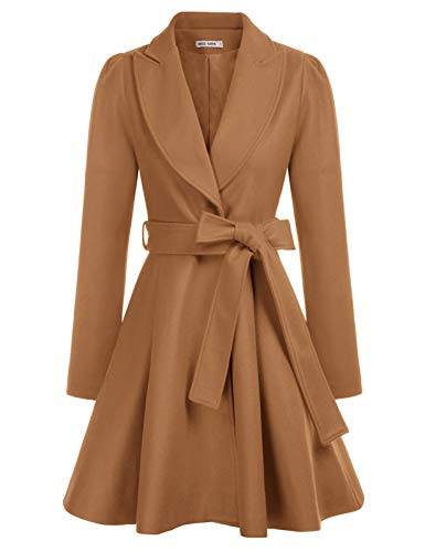 GRACE KARIN Women's Elegant Long Sleeve Fold Shoulder Slim Career Swing Coats