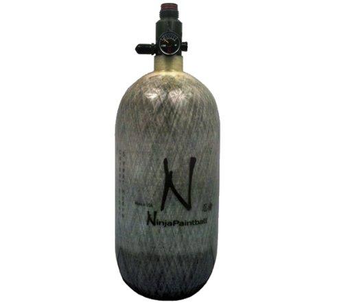 Ninja Carbon Fiber N2 Paintball Tank - 90ci/4500psi Grey