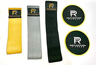 Hip Resistance Bands and Core Slider Exercise Set, 3 Non...