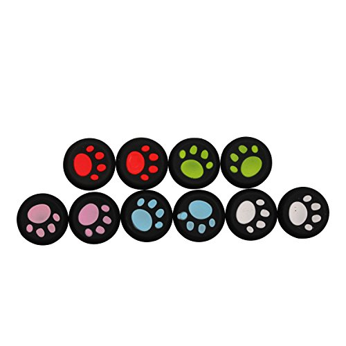 Timorn Controller Joystick Grips, Ps4 Thumb Grips Joystick Ps4 Controller Joystick Covers Thumb Caps for PS4 PS3 PS2 Xbox One Xbox 360 Game Controller (5 Pair)