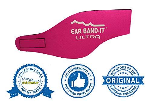 Ear Band-It Stirnband Schwimmen (behalten Wasser, halten Stecker Ohren) empfohlen durch den Arzt und Gewässerschutz Mittel (4-9) Hot pink