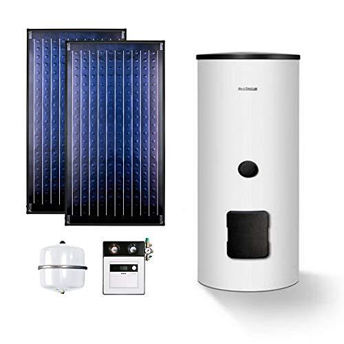Buderus Solaranlage Logaplus Paket S2 weiß 2 x SKN4.0 SM300 SC20 Solarspeicher …