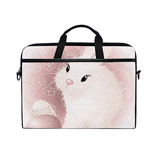 CPYang Laptop Bag Easter Bunny Rabbit Pattern Computer Laptop Case Notebook Laptop Shoulder Messenger Bag Sleeve for Boys Girls Women Men