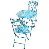 kaige Bistro Sets de 2 por Jardín - Patio Patio Plegable de Comedor Muebles - Plegable | Prueba del Moho |Weatherproof- jardín Trasero Balcón Tabla Pub WKY (Color : Blue)