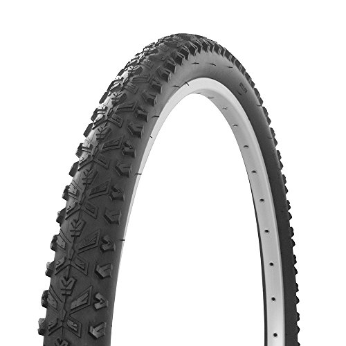 Fenix Cycles Wanda X Tread MTB Bicycle Tire White Wall 26 x 2.10, for Mountain Bikes, Black/Black