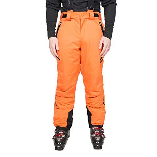 Trespass Kristoff Pantalones de esquí Impermeables con Tirantes extraíbles, Cremalleras, Polainas y ventilación Lateral, Hombre, Naranja, L