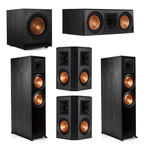 Great Price! Klipsch 5.1.2 System - 2 RP-8060FA Dolby Atmos Speakers, 1 RP-600C, 2 RP-502S Speakers,...