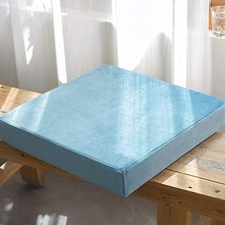 Waigg Kii Cojines de asiento cuadrados blandos, cojines de asiento con cremallera, 40/45/50/55 cm, cojines acolchados para jardín, hogar, interior y exterior (azul cielo, 50 x 50 x 5 cm)
