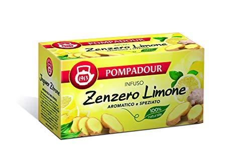 Pompadour - Infuso, Zenzero e Limone - 20 filtri - [confezione da 3]