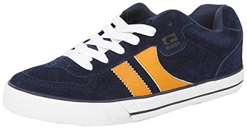Globe Herren Encore-2 Skateboardschuhe, Mehrfarbig (Navy/yellow), 45 EU (11.5 US)