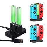 Nintendo Switch Joy-Con充電器 急速充電 ニンテンドースイッチ ジョイコン 充電スタンド 4台同時に充電可能 コンパクト 充電指示LED付き