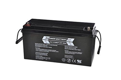 12V 150Ah RPower AGM Batterie / Bleiakku USV Akku Notstrom Notlicht Bleibatterie