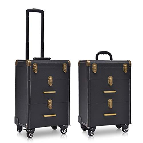 Belle Boîte À Outils De Coiffure Nail Technician Trolley Case Cosmétiques Beauty Trolley Box Travel Makeup Case Storage Box,C