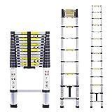 Telescoping Extension Ladder Aluminum Telescopic Foldable Long Extend...