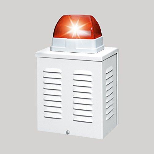 12V 110dB Orange Signalgeber Blitzlicht Alarmsirene Alarm Sirene Alarmanlage LED