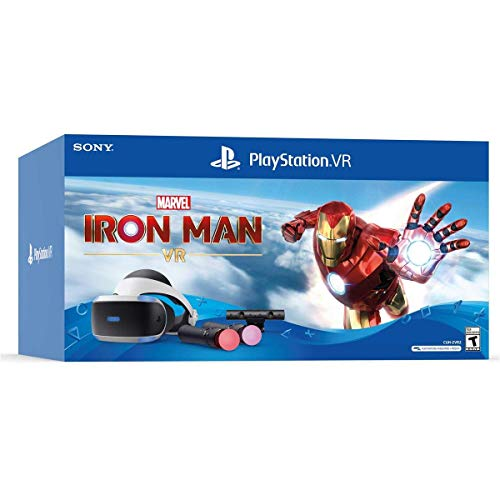 Sony PS4 PSVR Marvel Iron Man Bundle VR Headset + Camera + Controllers 3004152 (Renewed)