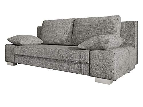 Schlafsofa Laura, Couch mit Bettkasten und Schlaffunktion, freistehendes Schlafcouch, Couchgarnitur, Bettfofa, Sofa vom Hersteller (Lawa 05)