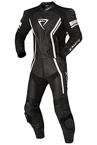 DIFI SILVERSTONE PRO Lederkombi Zweiteiler Farbe schwarz/weiß, Größe 48