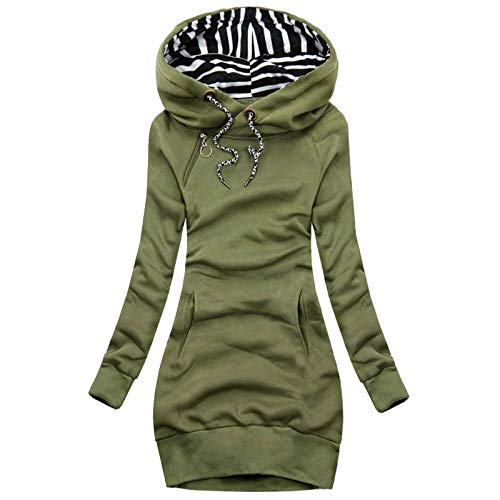 Pianshanzi Outwear - Sudadera con capucha para mujer, talla grande, con cremallera, manga larga, para otoño e invierno, Negro , XXXL