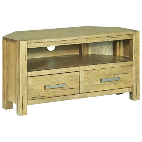 Tv-meubel hoek 88x42x46 cm rustiek eikenhout