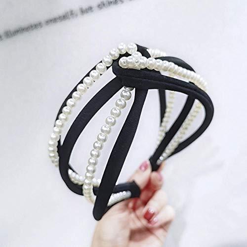 Tony plate 100% Marca Pearl Crystal Head Wear Hoop Headband Hairband Hair Band Accesorios Niñas Mujeres Linda Hairband-025