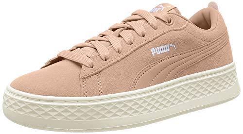 Puma Damen Smash Platform SD Sneaker, Pink (Peach Bud-Puma White-Whisper White 08), 39 EU
