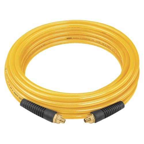 DEWALT DAP38100 100-Inch, 3/8-Inch diameter, polyurethane air hose with 1/4-Inch NPT male fittings. -