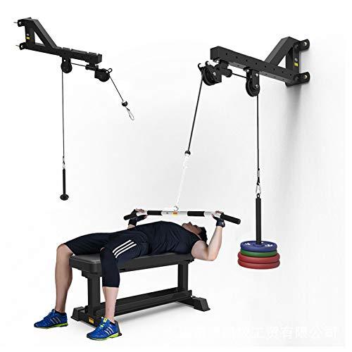 GJXJY Barra Triceps Máquina De Ejercicios Montado En La Pared Sistema De Poleas De Cable Montado En La Pared Muscular De La Aptitud Integral Entrenador