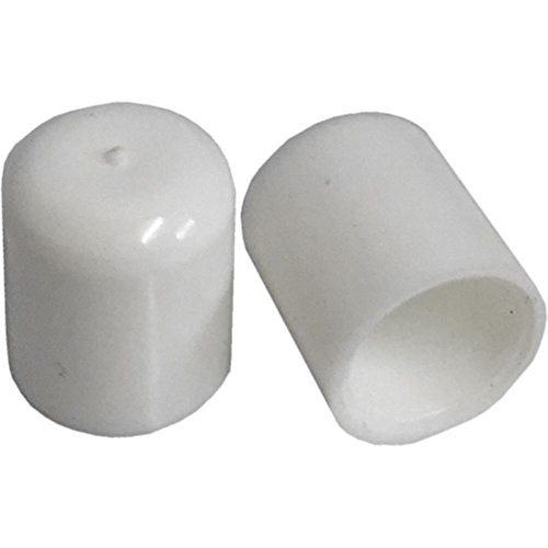 Pack van 8 Stoel Meubilair Ferrule Vloerbeschermer Wit Kunststof 9,5 Mm 15 Mm