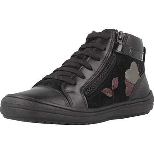 Geox J HADRIEL Girl A, Zapatillas Altas Niñas, (Dk Pink C8006), 27 EU