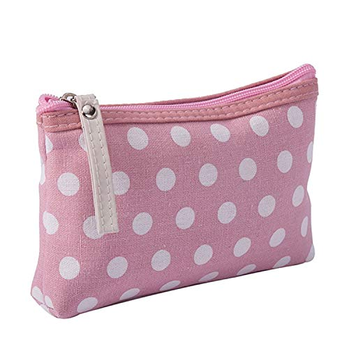 N/A Femmes Plaid Travel Cosmetic Handbag Female Zipper Purse Pouch Cosmetic Make Up Bags Pink