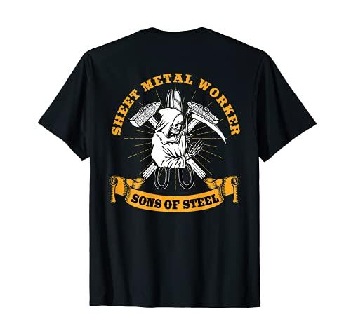 Sheet Metal Worker Gifts Design On Back Of Shirt T-Shirt