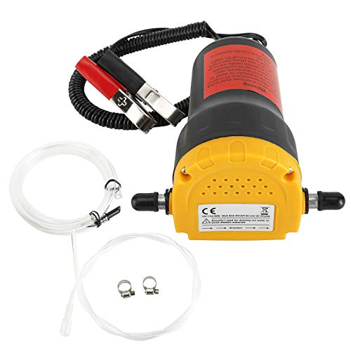 FreeTec Ölabsaugpumpe Dieselpumpe 12V Ölpumpe Kraftstoffpumpe 60W zum Ölwechsel Motoröl Heizöl