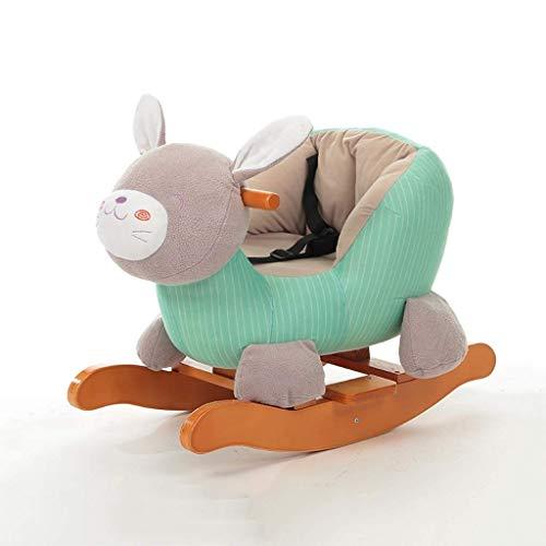 AYY Baby-Schaukelpferd, Kinder reiten auf Spielzeug, Holzreitpferd for 1-3 Jahre alten Jungen und Mädchen, Kleinkind, Plüsch-Kuscheltier-Schaukelstuhl, Säuglingsgeschenk