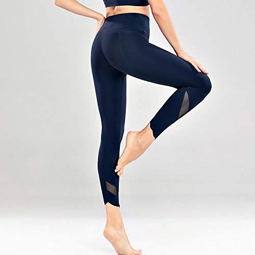 B H Leggings No Transparenta Cintura Alta,Aeróbico Pilates Fitness Pantalones,Polainas para Running Pilates Fitness