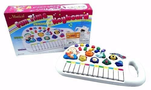 Piano Teclado Musical Infantil Sons Luz Eletrônico Educativo